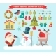Merry christmas. Vector winter icons and elements - GraphicRiver Item for Sale