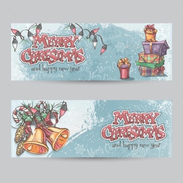 Set of Horizontal Christmas Cards - Christmas Seasons/Holidays