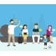 Group of People using Electronics Devices - GraphicRiver Item for Sale