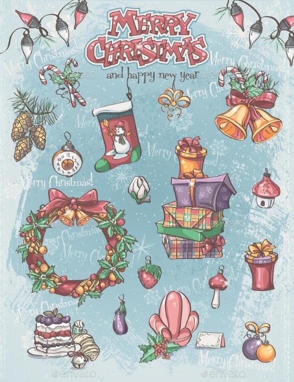 Set of Christmas Holiday Items - Christmas Seasons/Holidays