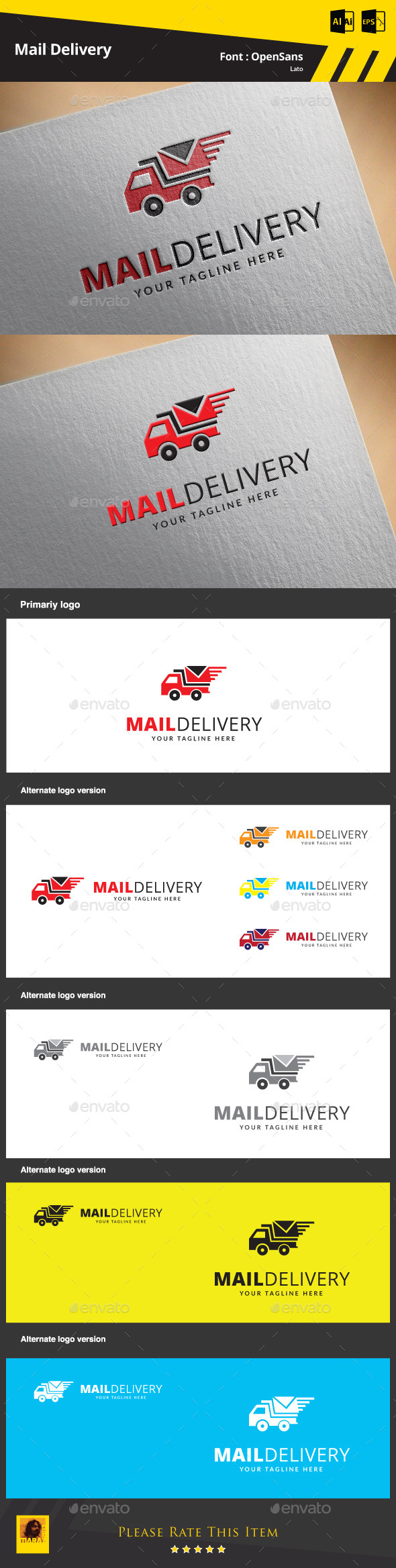 Mail Delivery Logo Template - Symbols Logo Templates