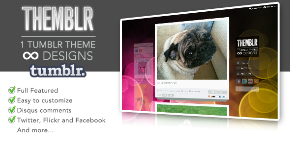 Free Download Themblr - 1 Tumblr Theme infinite designs Nulled Latest Version