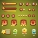 Set of Wooden Buttons, Progress Bars and Elements - GraphicRiver Item for Sale