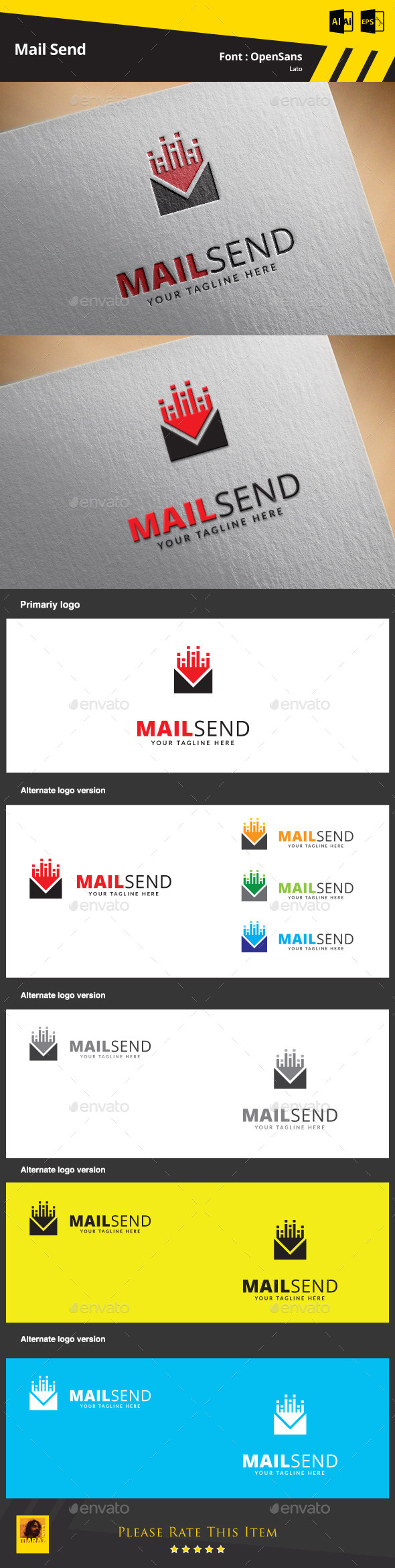 Mail Send Logo Template - Objects Logo Templates