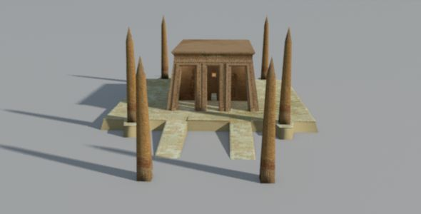Ancient Egyptian Obelisk Temple - 3DOcean Item for Sale