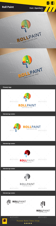 Roll Paint Logo Template - Symbols Logo Templates