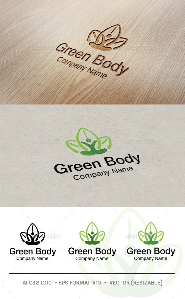 Green Body V2 Logo - Nature Logo Templates