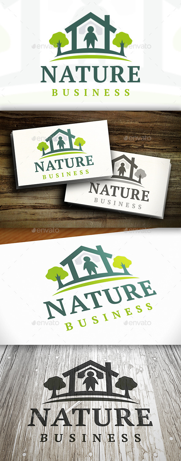 Nature House Logo - Buildings Logo Templates
