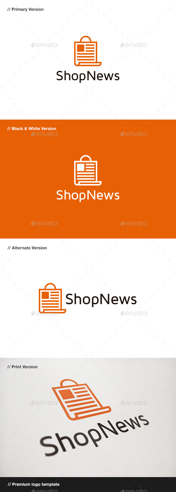 Shop News Logo - Objects Logo Templates