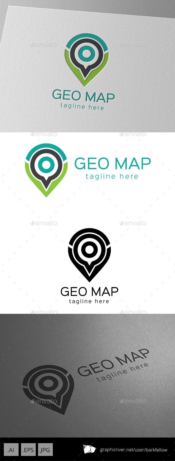 Geo Map Logo - Symbols Logo Templates