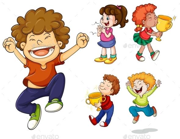 Winning Kids - People Characters