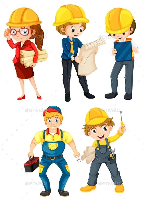 Hardworking People - People Characters