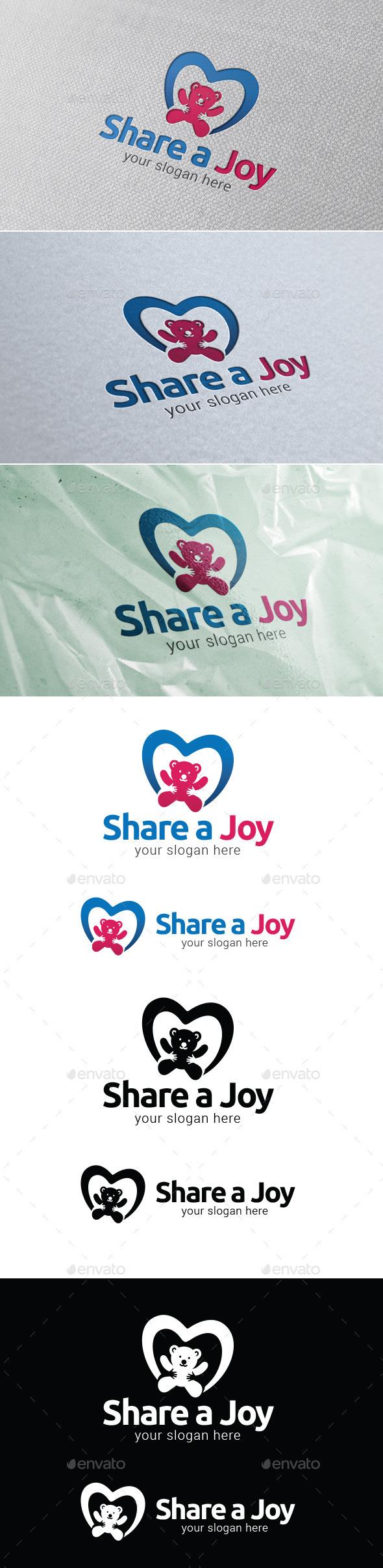 Share A Joy Logo Template - Objects Logo Templates