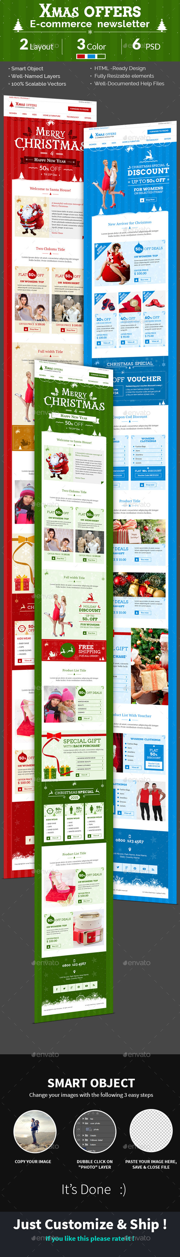 Christmas Shopping Offers | e-Commerce Newsletter  - E-newsletters Web Elements