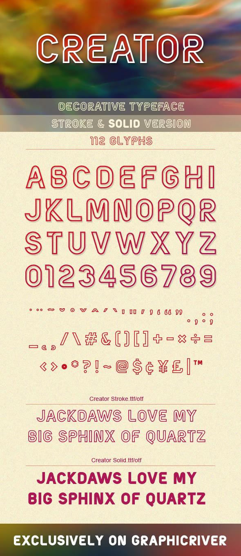 Creator Typeface - Decorative Fonts
