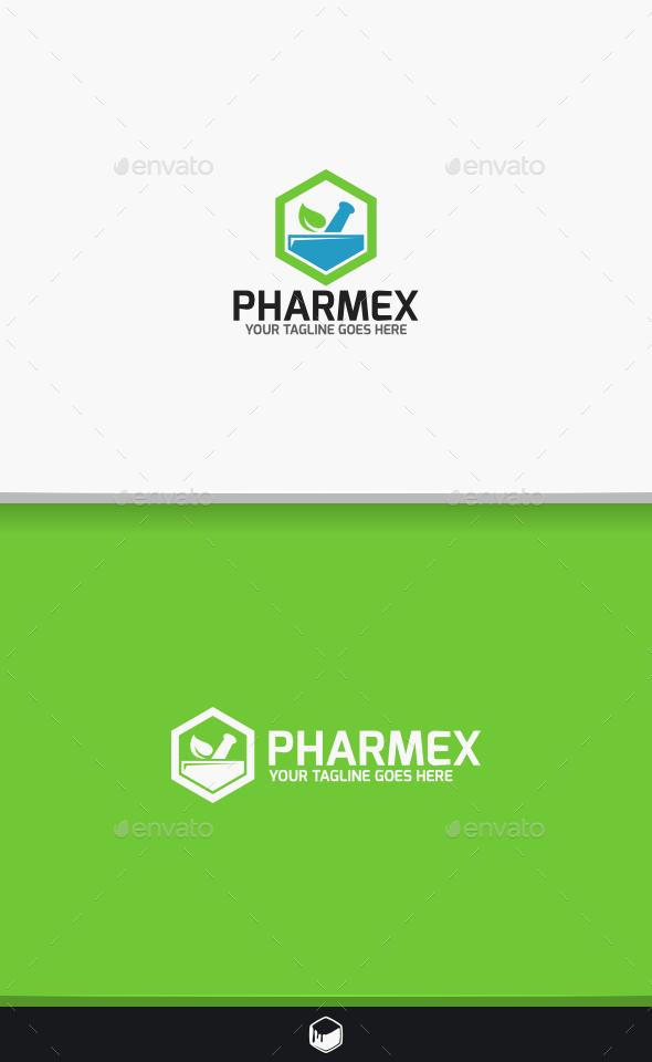 Pharmacy Pharmex Logo - Objects Logo Templates