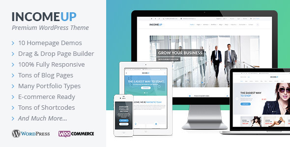 IncomeUp – Multipurpose WordPress Theme