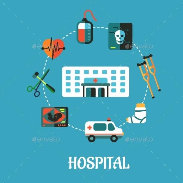 Hospital Flat Inforgraphic Design - Health/Medicine Conceptual