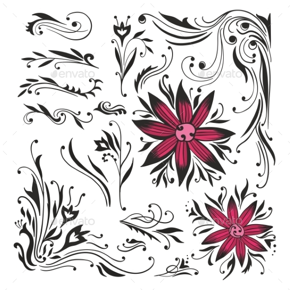 Swirls and Curls Set - Flourishes / Swirls Decorative
