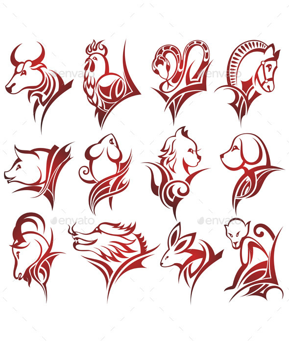 Zodiac Signs - Animals Characters