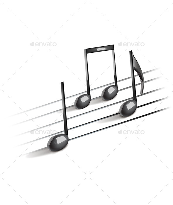 Abstract Musical Background with Notes - Backgrounds Decorative