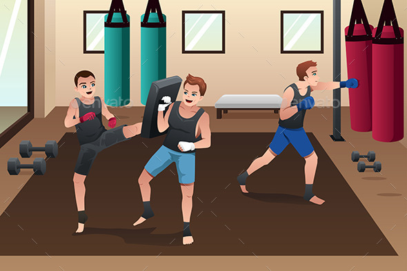 Boxer Training in the Gym - Sports/Activity Conceptual