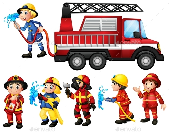 Firefighters - People Characters