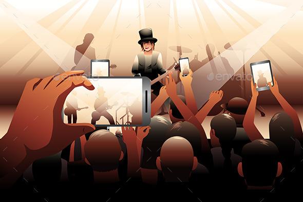 People in Concert Scene - People Characters