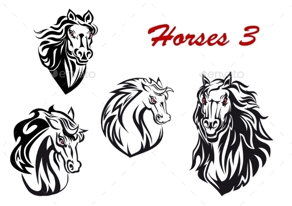 Cartoon Horse Characters - Animals Characters
