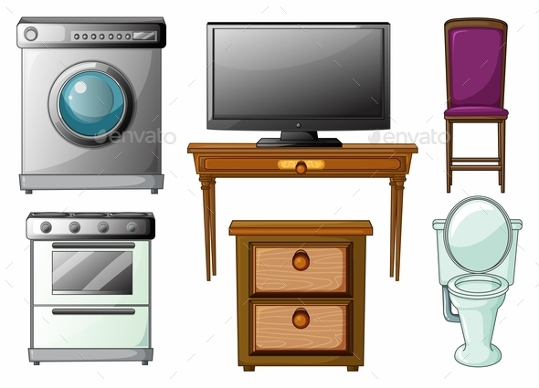 Appliances and Furnitures - Man-made Objects Objects