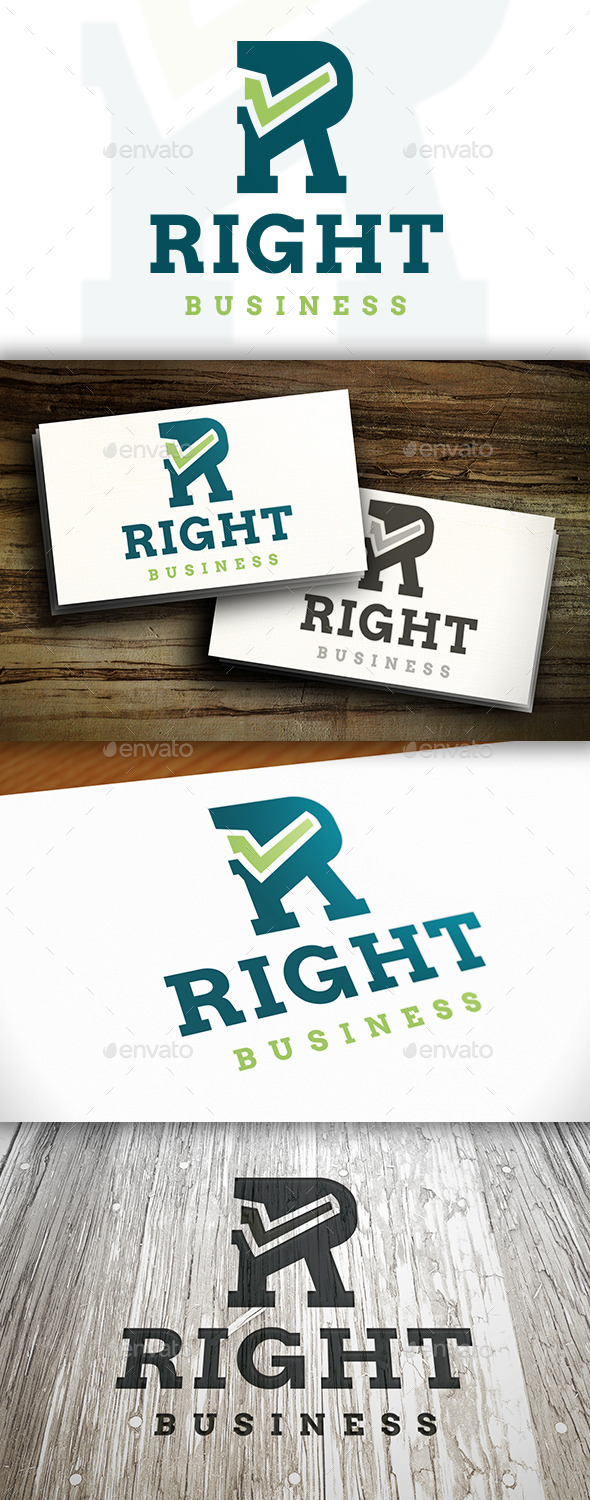 Right R Letter Logo - Letters Logo Templates
