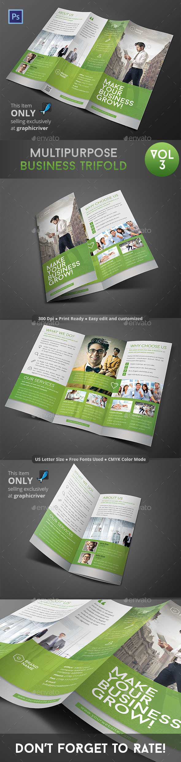Multipurpose Business Trifold Vol 3 - Informational Brochures