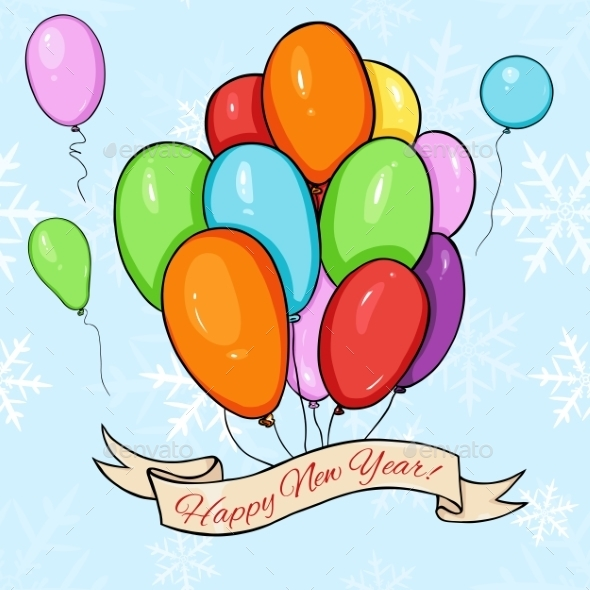 Happy New Year Card  - Miscellaneous Vectors