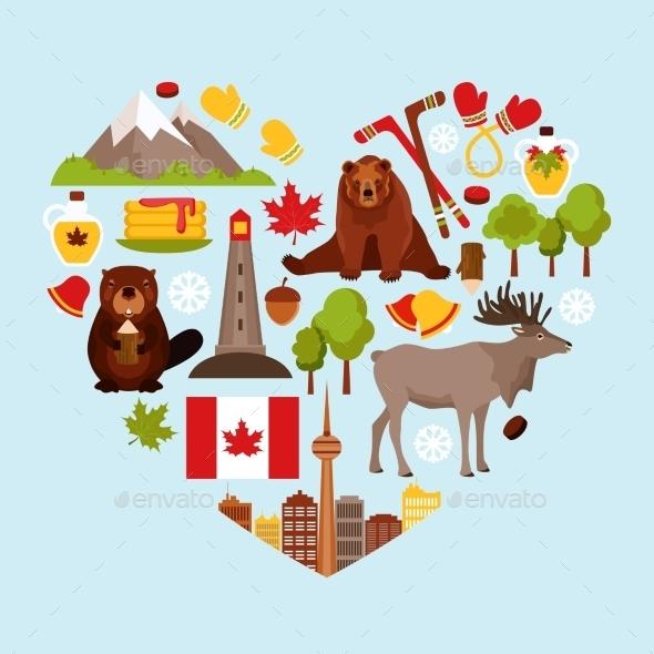 Canada Decorative Set - Travel Conceptual