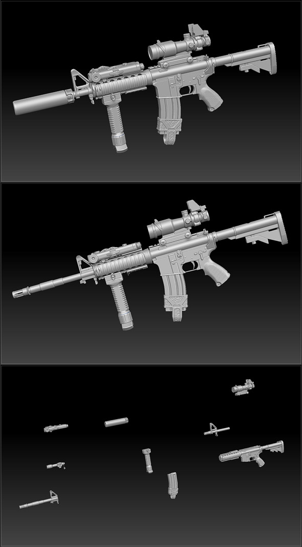L119a1 Rifle // Mesh Pack - 3DOcean Item for Sale