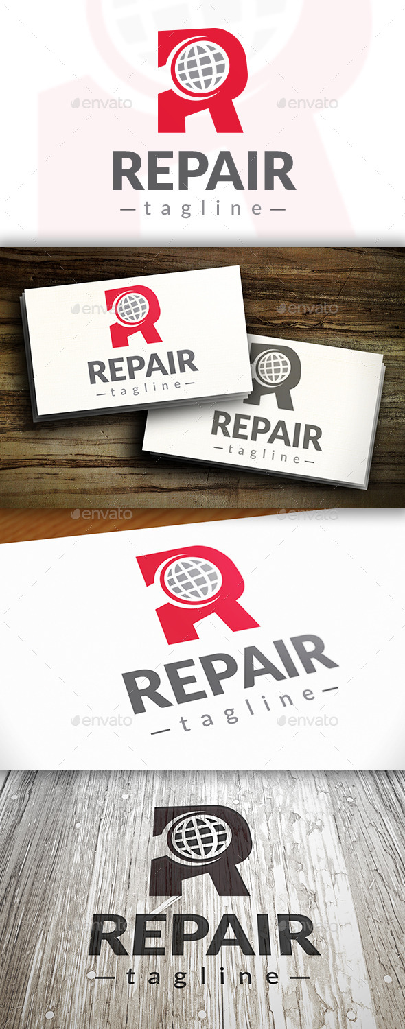 Repair World Logo - Letters Logo Templates