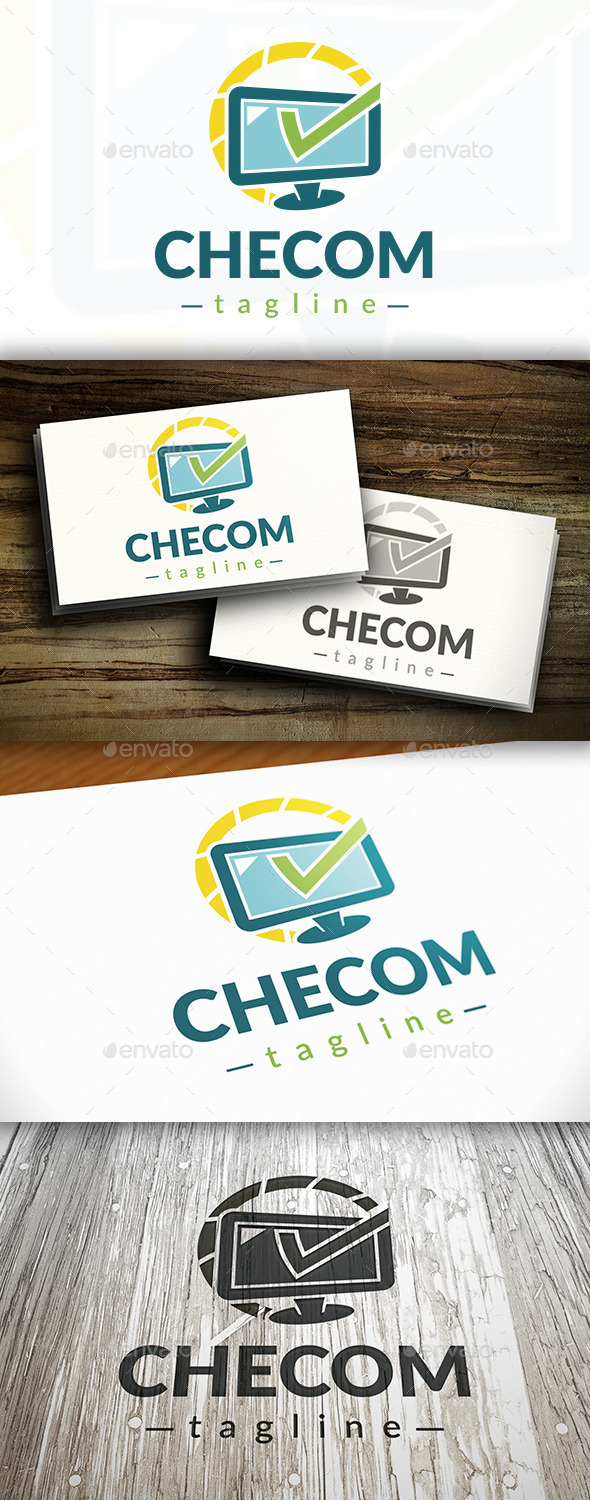 Computer Check Logo - Objects Logo Templates