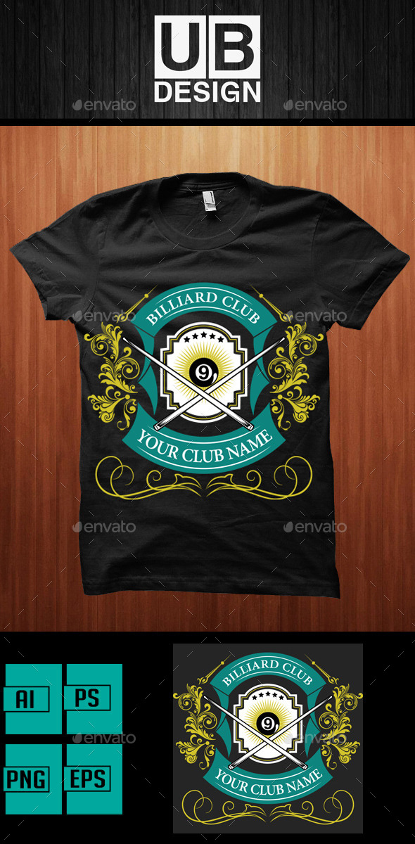 Shirt Design for Biliard Club - Academic T-Shirts