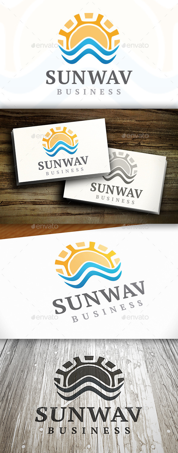 Sun Wave Logo - Nature Logo Templates