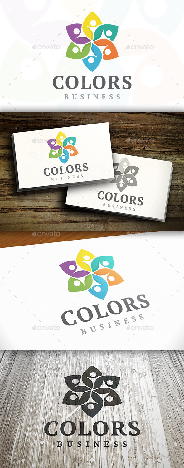 Kids Flower Logo - Humans Logo Templates