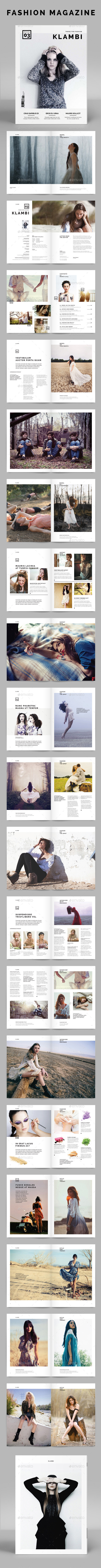 Fashion Magazine Klambi - Magazines Print Templates