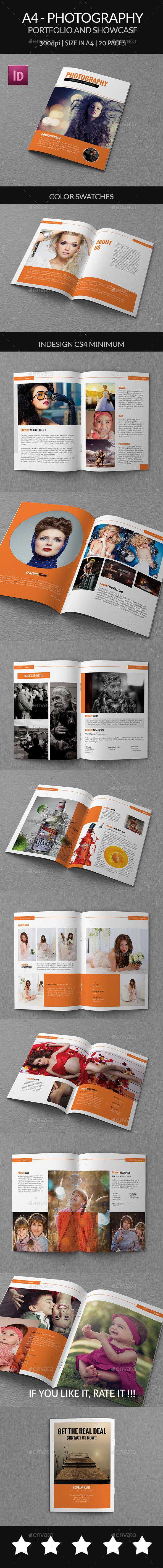 A4 - Photography Portfolio and Showcase - Portfolio Brochures