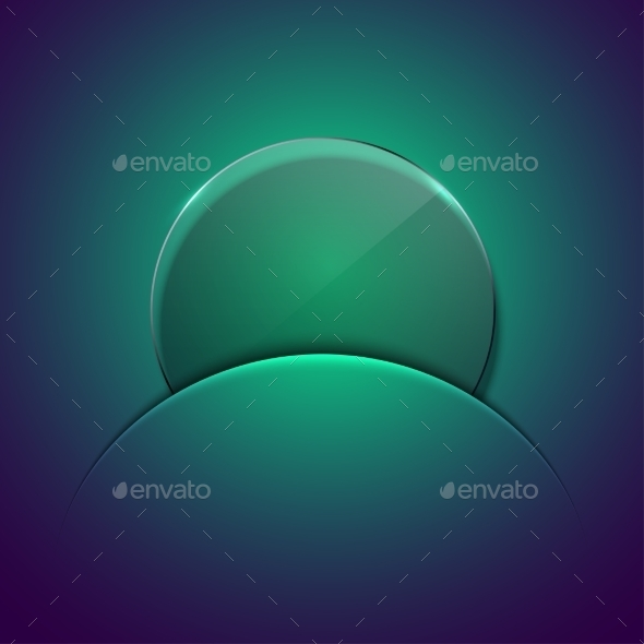 Vector Modern Circle Glass Background. - Objects Vectors