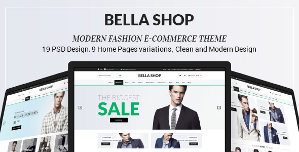 Bella Shop - eCommerce PSD Template - Retail PSD Templates