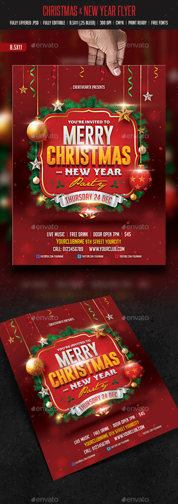 Christmas & New Year Flyer - Events Flyers