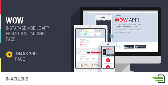 WOW - Instapage Mobile App Landing Page