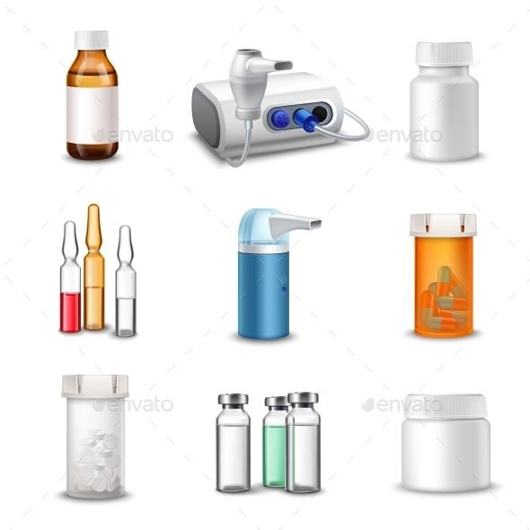 Medical Bottles - Health/Medicine Conceptual
