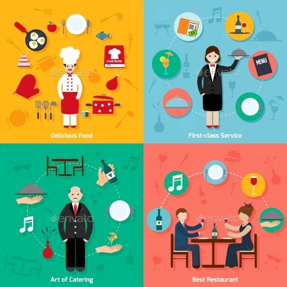 Restaurant Flat Set - People Characters