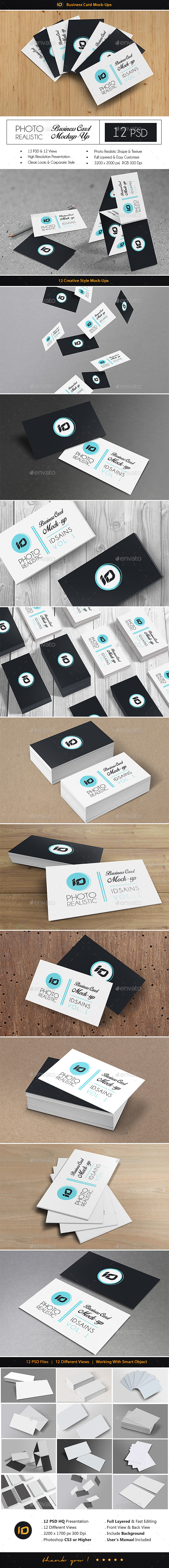 ID Business Card Mock-Up - Business Cards Print