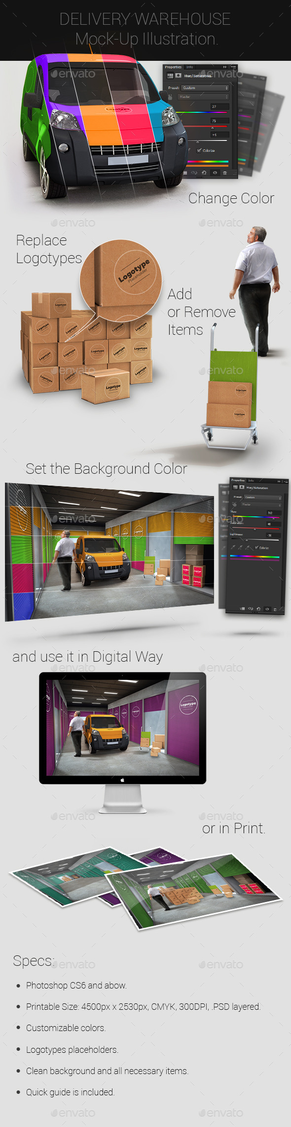 Delivery Warehouse Mock-Up - Miscellaneous Print